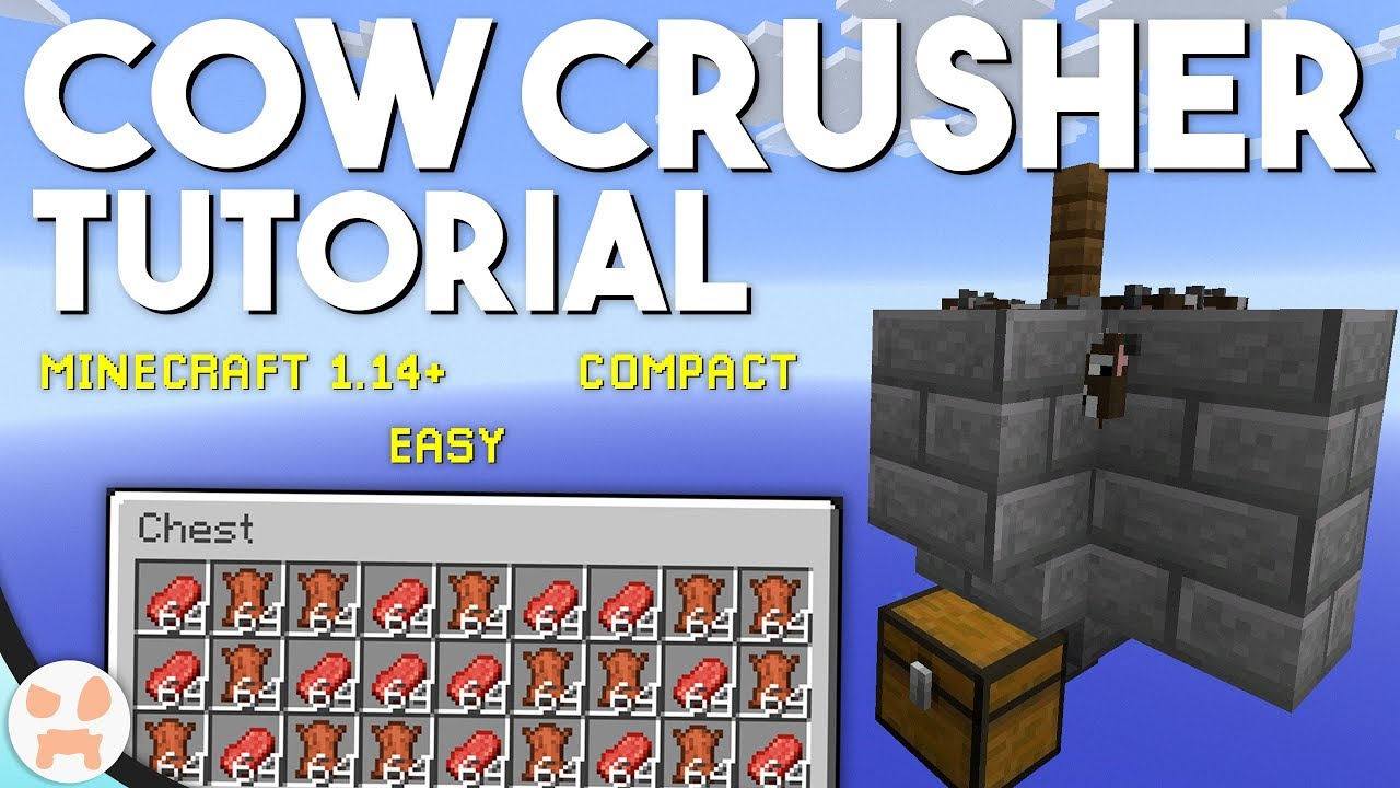 EASY COW FARM TUTORIAL! | Minecraft 1.15+, Compact - Game ...