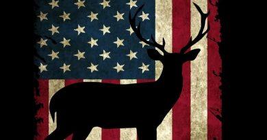 Hunting Journal Notebook: Patriotic American Flag Buck Design / Big Game Deer Hunter Season / Blank Lined Journal / 6x9 110 pgs / Softcover Matte Finish / Outdoor Sportsmen Gift