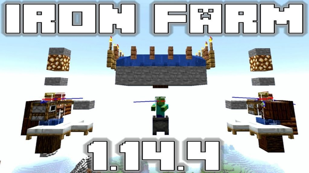 Minecraft Iron Farm 1 15 And 1 14 4 Tutorial No Redstone Future Proof Game Designers Hub