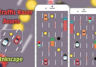 2D Traffic Racer Game Assets | Inkscape Tutorial