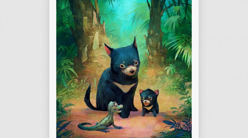 """In 'The Devils & the Croc', Nikolai Lockertsen transports us to a sweet moment of curiosity & friendship in a fantastical Australian wilderness.