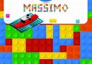 Massimo: Primary Composition Notebook Story Paper Journal Gifts with Personalized Initial Name & Monogram for Kids (Boys) Dashed  Midline / Dotted and ... Exercise Book (Block / Brick Games Design)