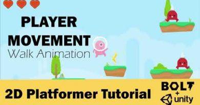 Easy Free Video Game Design Tutorial # 5 – Walk Animation